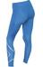 2XU W's Mid-Rise Compression Tights Pacific Blue/Silver logo